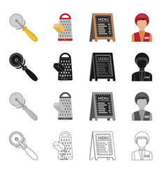 restaurants fast food and other web icon in vector image