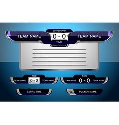 Scoreboard game football vector