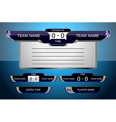 scoreboard game football vector image