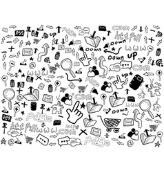 Seamless doodle web pattern vector