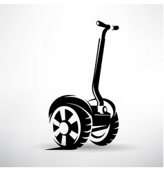 Segway outlined symbol electric scooter vector