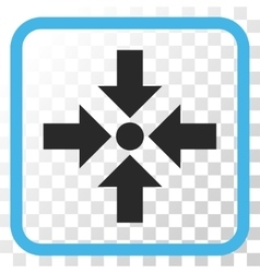Shrink Arrows Icon In a Frame vector