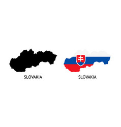 Silhouette slovakia on white color vector