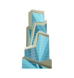 skyscraper building modern building flat office vector image