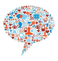 Social media bubble concept vector