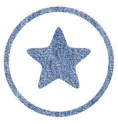 Star rounded fabric textured icon vector