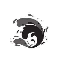 Stormy sea wave isolated icon vector