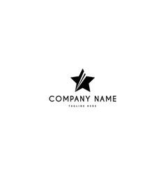 success star black abstract logo design vector image