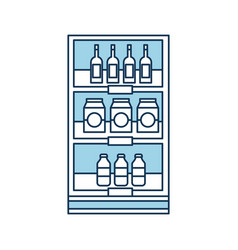 supermarket grocery and store drinks bottles and vector image