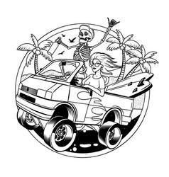 surfing t-shirt designs surf van vector image