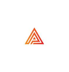 triangle line geometry pyramid logo vector image