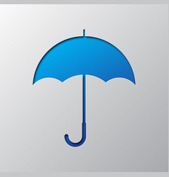 umbrella is cut from paper vector image