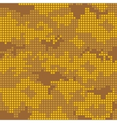 Urban camo pattern - yellow pixels vector
