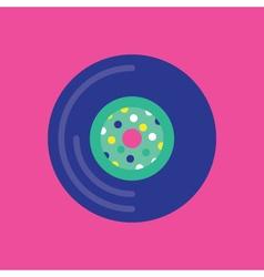 Vinyl Record Icon Yellow Background vector image