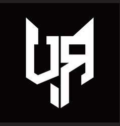 vr logo monogram with fox head shape design vector image