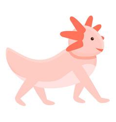 Walking axolotl icon cartoon style vector