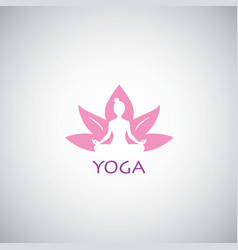 Yoga logo lotus concept vector