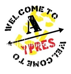 Ypres stamp rubber grunge vector