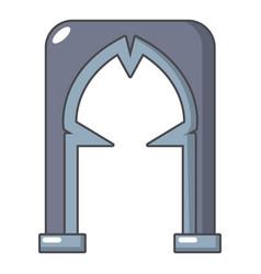archway villain icon cartoon style vector image vector image
