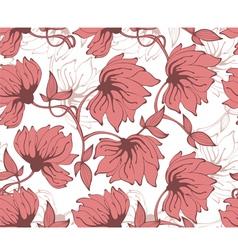 flower pattern back red vector image vector image