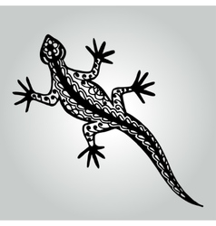 Handdrawing doodle lizard Wildlife collection vector image vector image