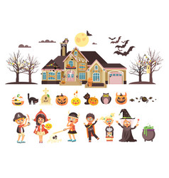 isolated children trick-or vector image vector image