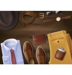 Men Wear Lay Set vector image vector image