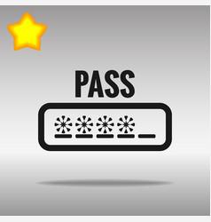 password black icon button logo symbol vector image vector image