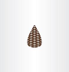 pinecone icon symbol vector image vector image