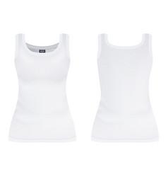 women s white short sleeve t-shirt design vector image