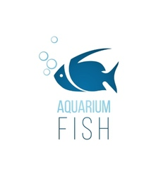 Aquarium fish logo template vector image vector image