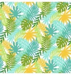 Colorful hawaiian plants seamless pattern vector image vector image