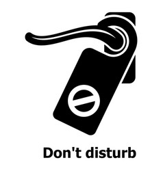 do not disturb icon simple black style vector image