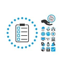 Examination Flat Icon With Bonus vector image