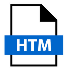 file name extension htm type vector image vector image