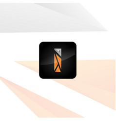 i logo for mobile app vector image vector image