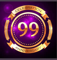 Ninety nine years anniversary celebration with vector