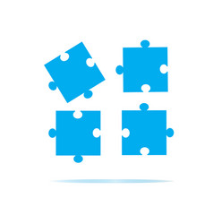 puzzles piece icon on white background puzzles vector image