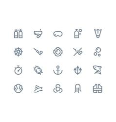 Scuba icons Line series vector image
