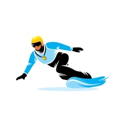 Snowboarding sign vector image vector image