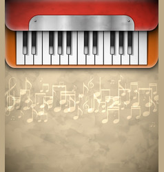 Background with piano vector image vector image