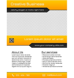 Business multipurpose flyer template - yellow vector image vector image
