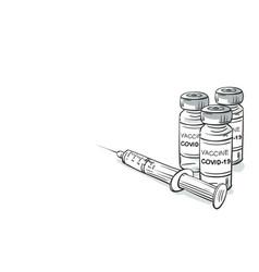 2019-ncov covid-19 coronavirus vaccine vials vector