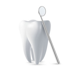 3d realistic dental inspection mirror vector