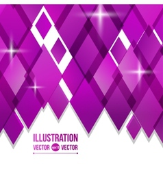 abstract background of purple diamonds vector image