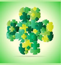 Abstract green four leaf vector