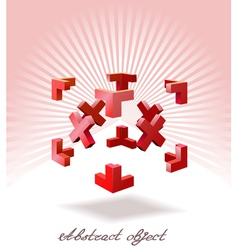 an abstract object is shown in the image vector image