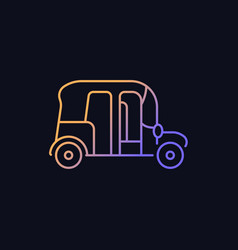 Auto rickshaw gradient icon for dark theme vector