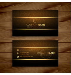 Awesome golden business card design vector