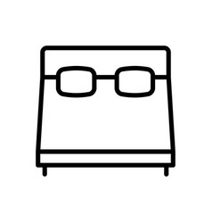 Bed furniture icon vector